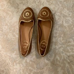Jack Rogers Brown & Gold Flats